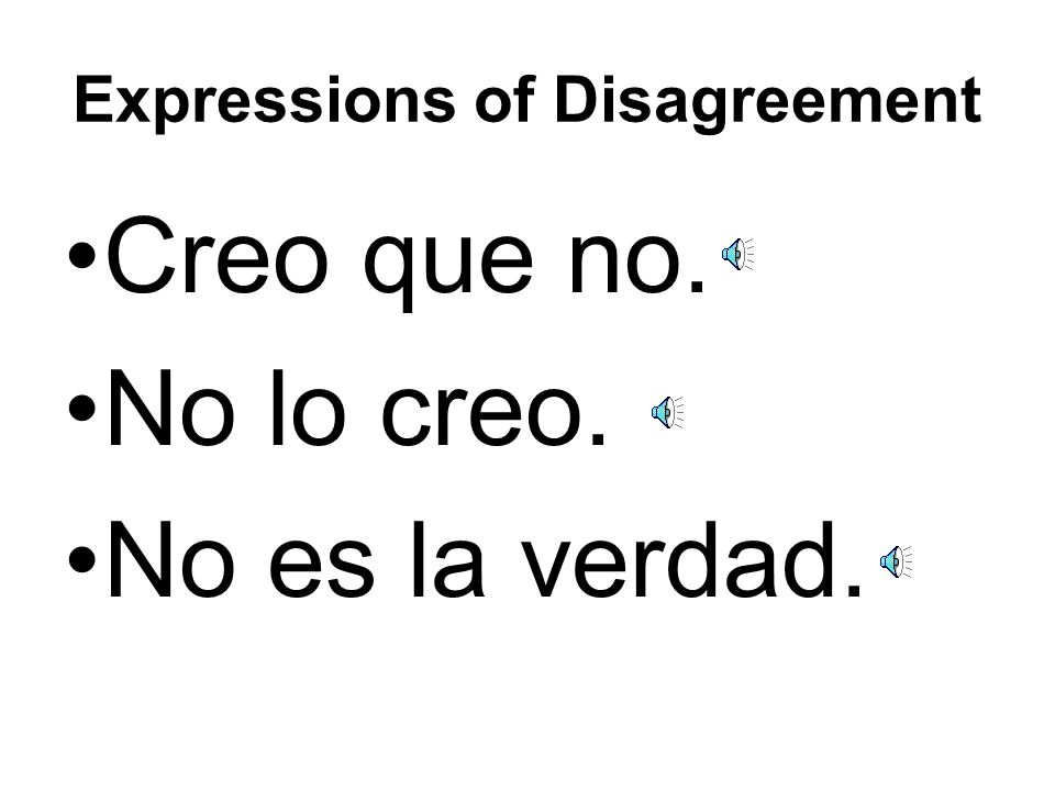 Expressions of Disagreement