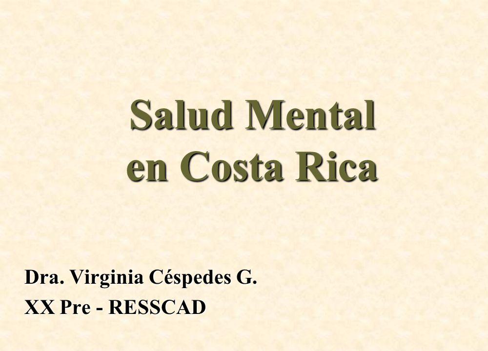 Salud Mental en Costa Rica