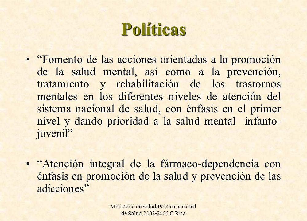 Ministerio de Salud,Polìtica nacional de Salud,2002-2006,C.Rica