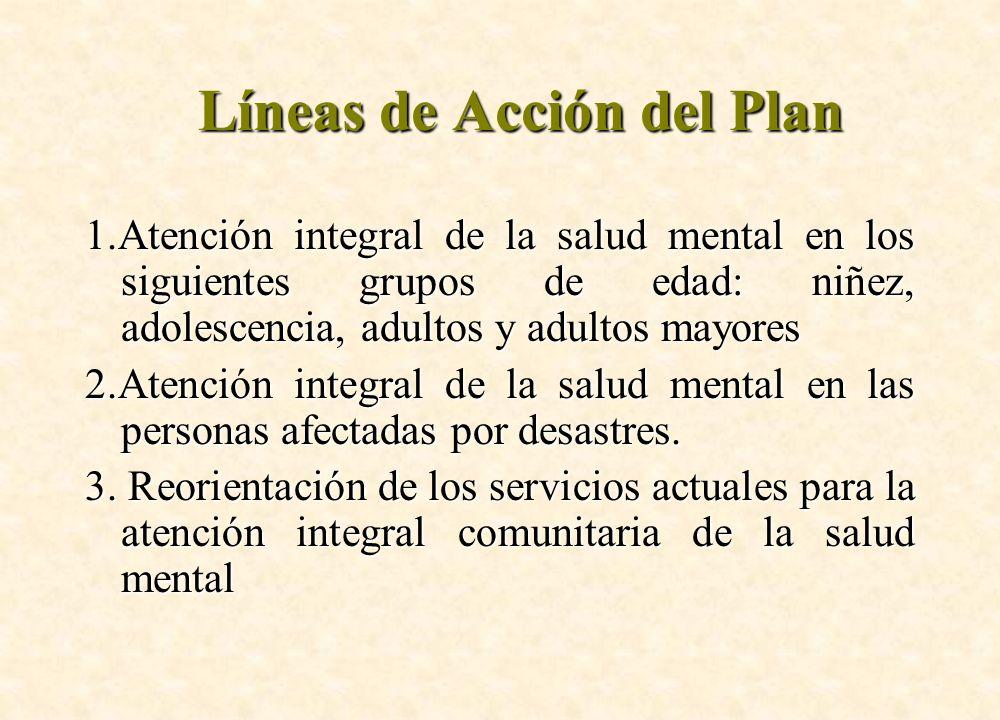 Líneas de Acción del Plan