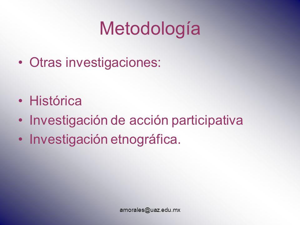Metodología Otras investigaciones: Histórica