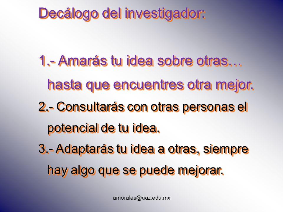 Decálogo del investigador: