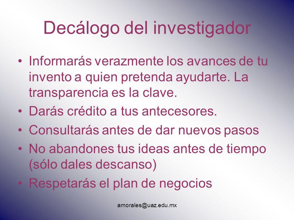 Decálogo del investigador