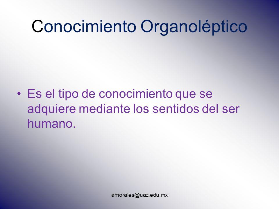 Conocimiento Organoléptico