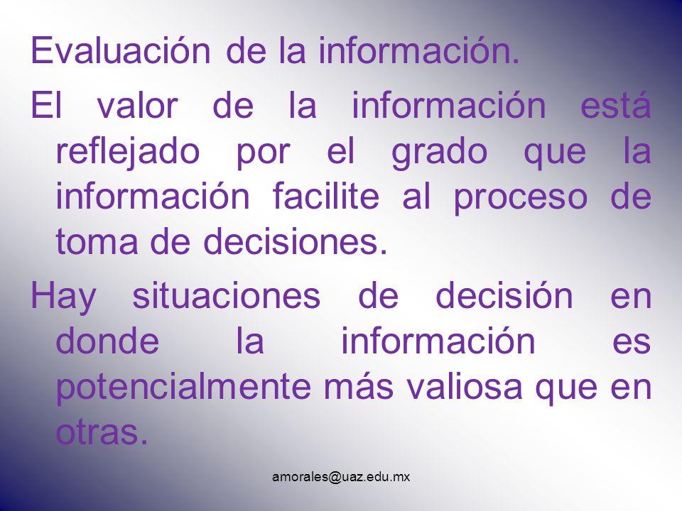 Evaluación de la información.