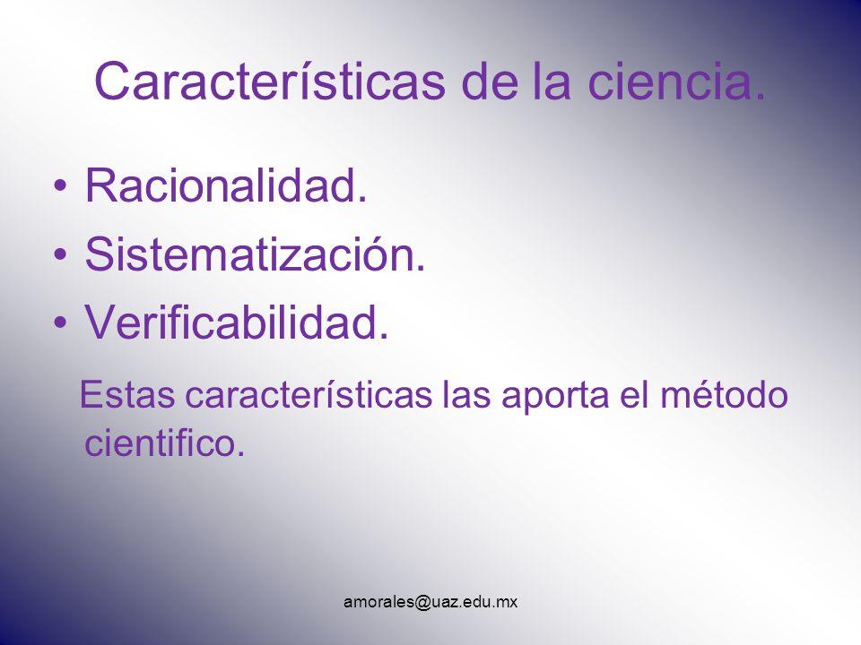 Características de la ciencia.