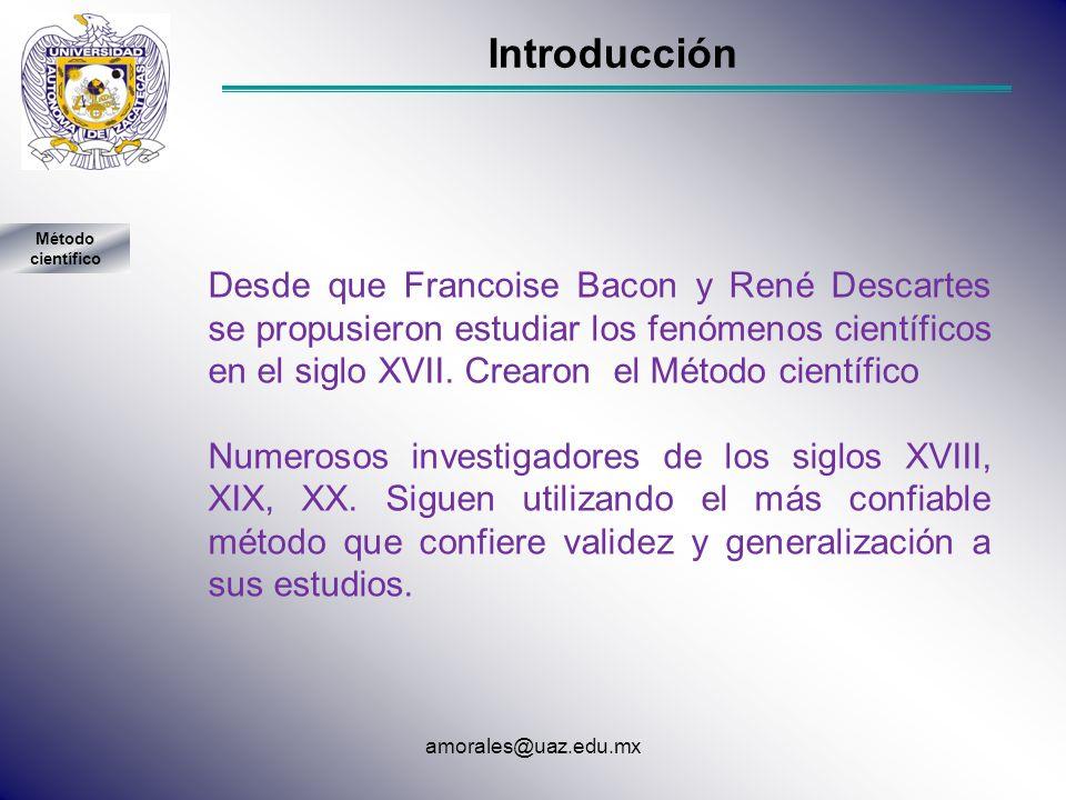 Introducción Método científico.