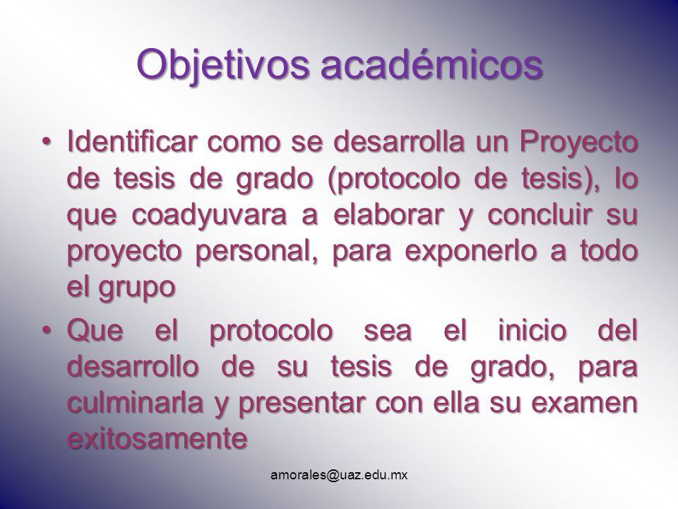 Objetivos académicos