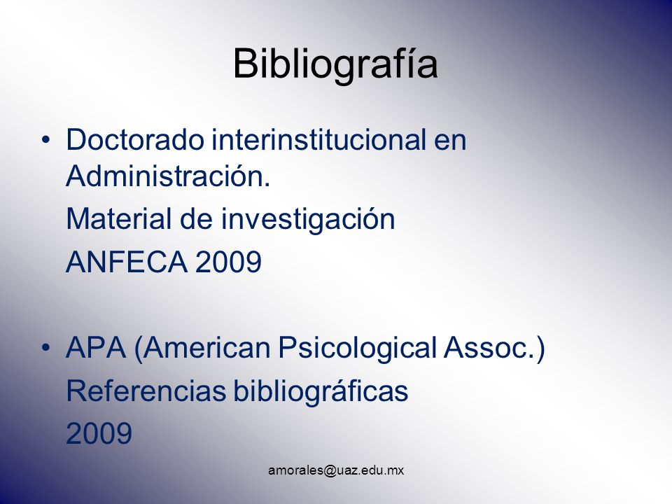 Bibliografía Doctorado interinstitucional en Administración.