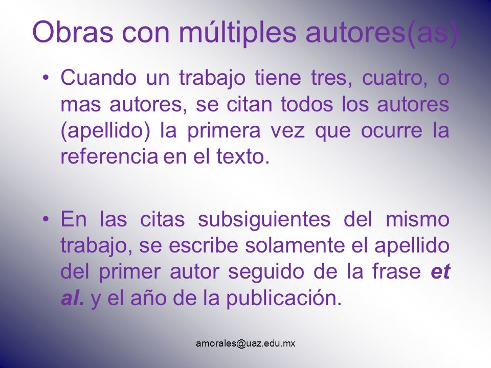 Obras con múltiples autores(as)