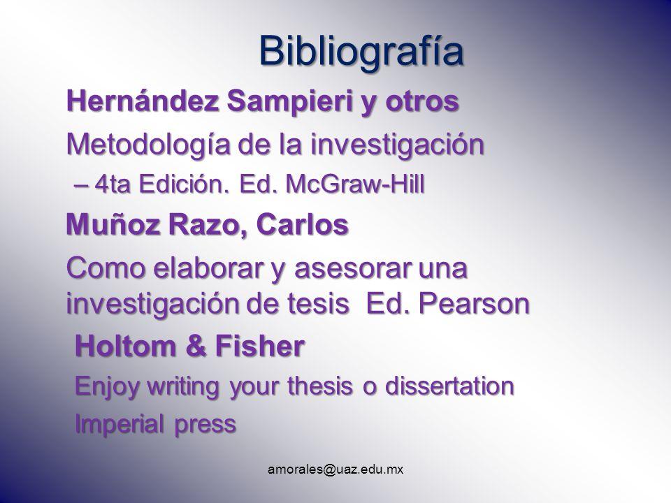 Bibliografía Hernández Sampieri y otros