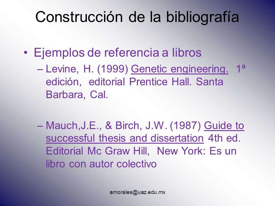 Construcción de la bibliografía