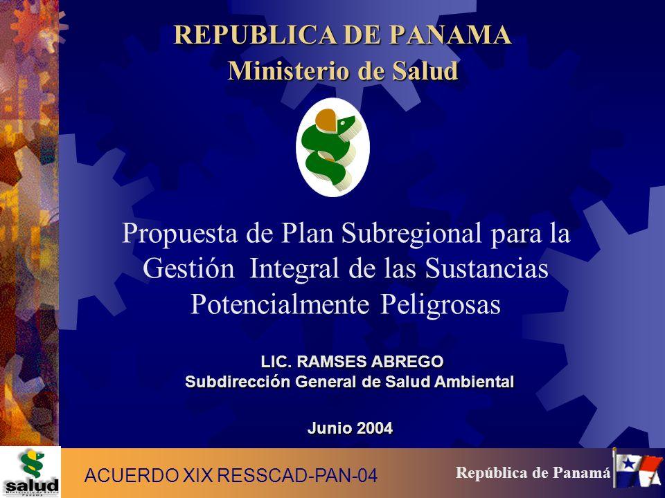 REPUBLICA DE PANAMA Ministerio de Salud