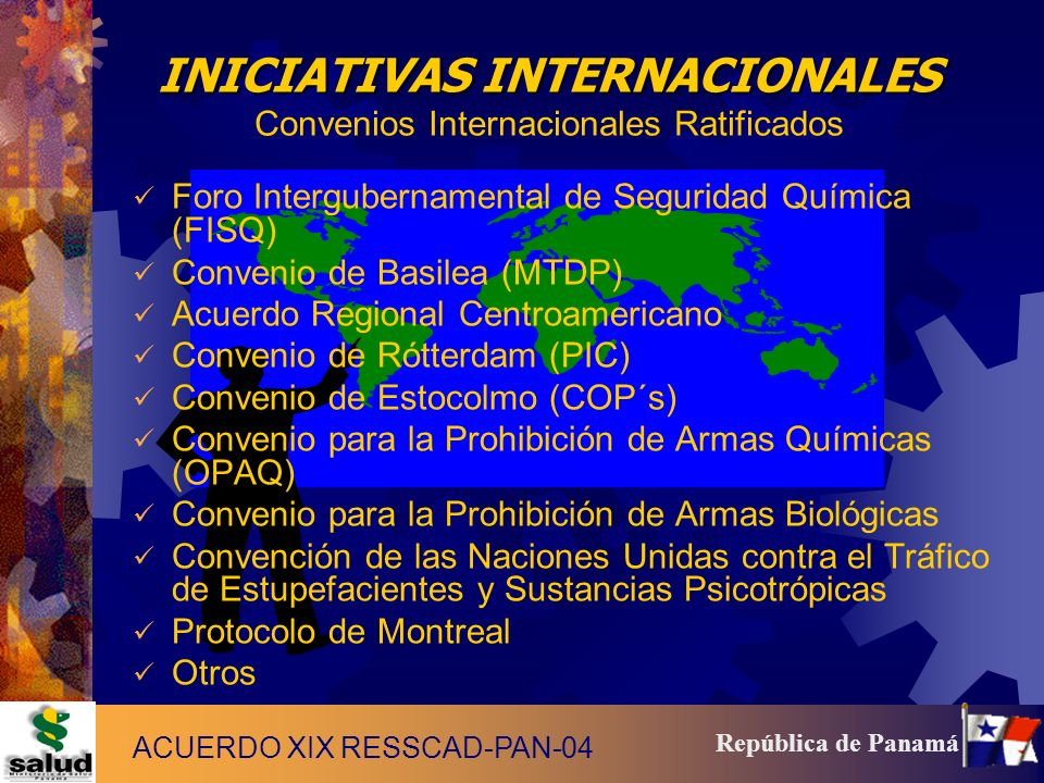 INICIATIVAS INTERNACIONALES Convenios Internacionales Ratificados