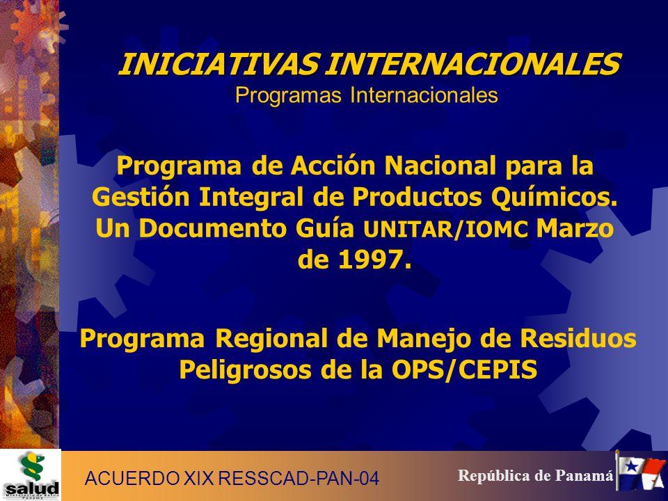 Programa Regional de Manejo de Residuos Peligrosos de la OPS/CEPIS