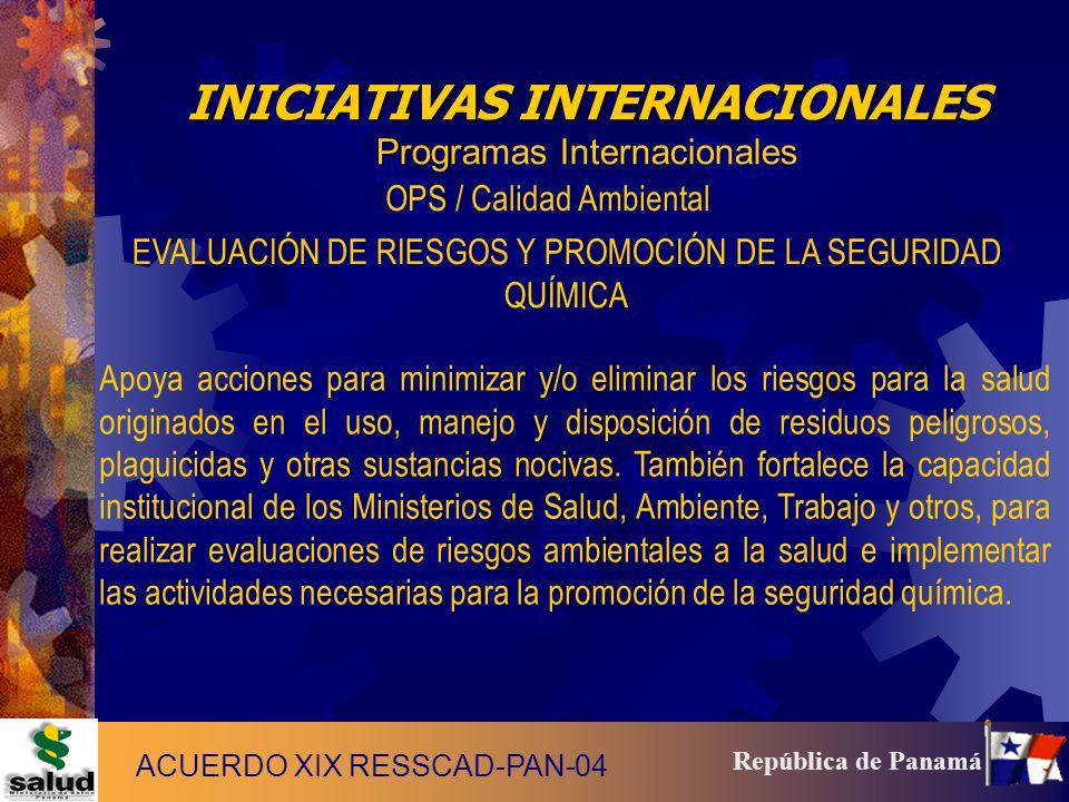 INICIATIVAS INTERNACIONALES Programas Internacionales