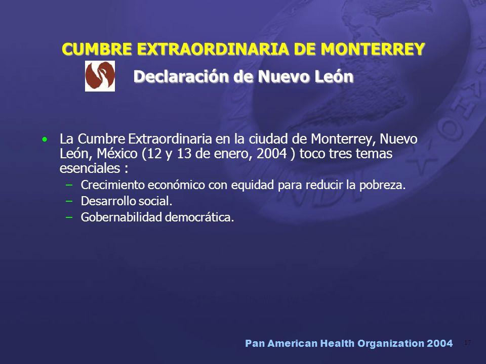 CUMBRE EXTRAORDINARIA DE MONTERREY Declaración de Nuevo León