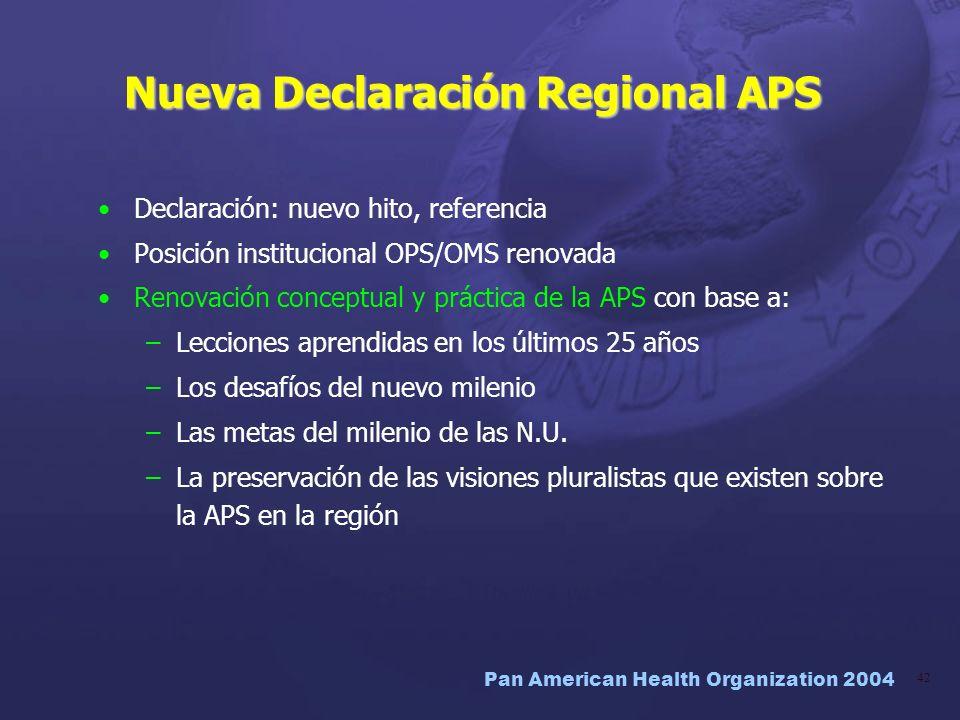 Nueva Declaración Regional APS