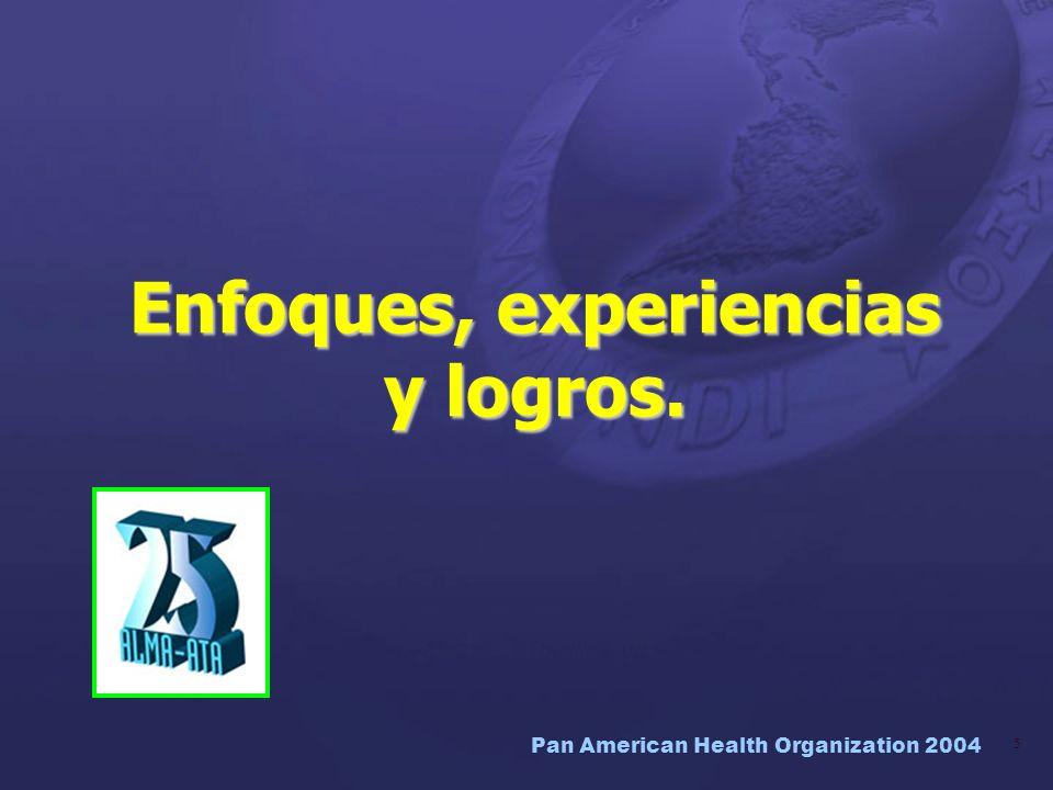 Enfoques, experiencias y logros.