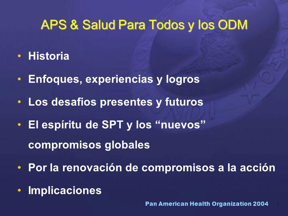 APS & Salud Para Todos y los ODM