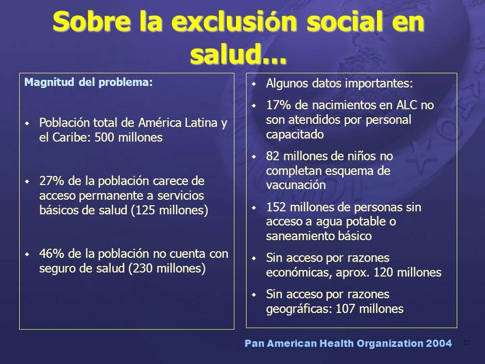 Sobre la exclusión social en salud...