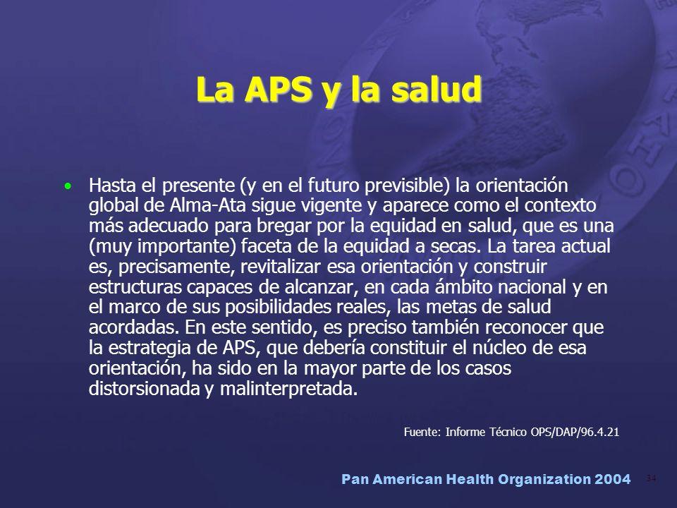 La APS y la salud