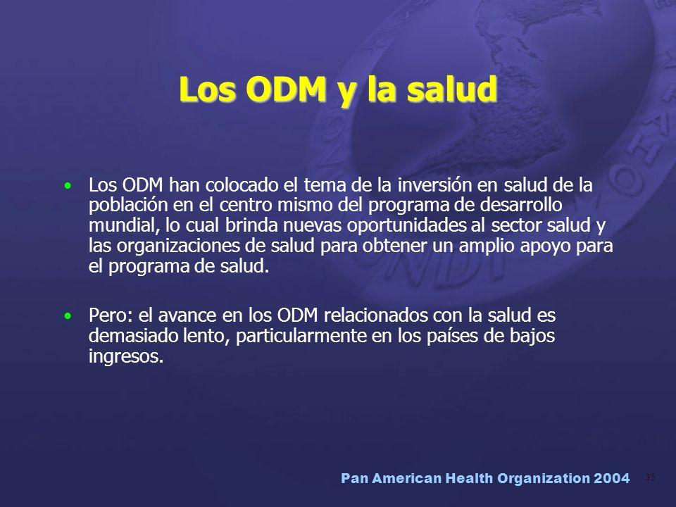 Los ODM y la salud