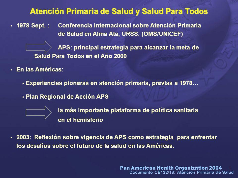Atención Primaria de Salud y Salud Para Todos