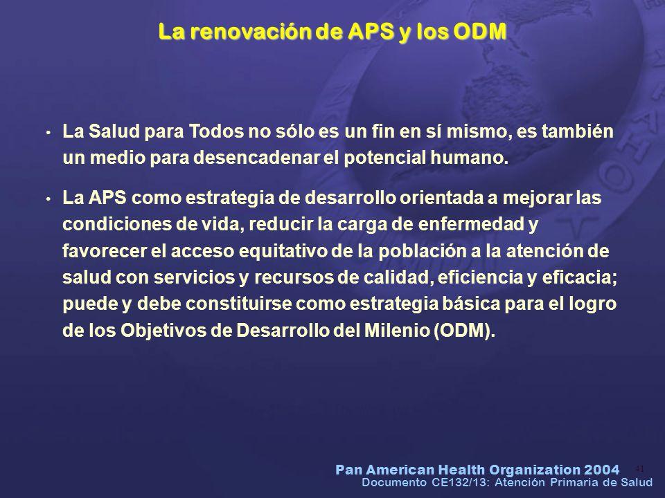 La renovación de APS y los ODM