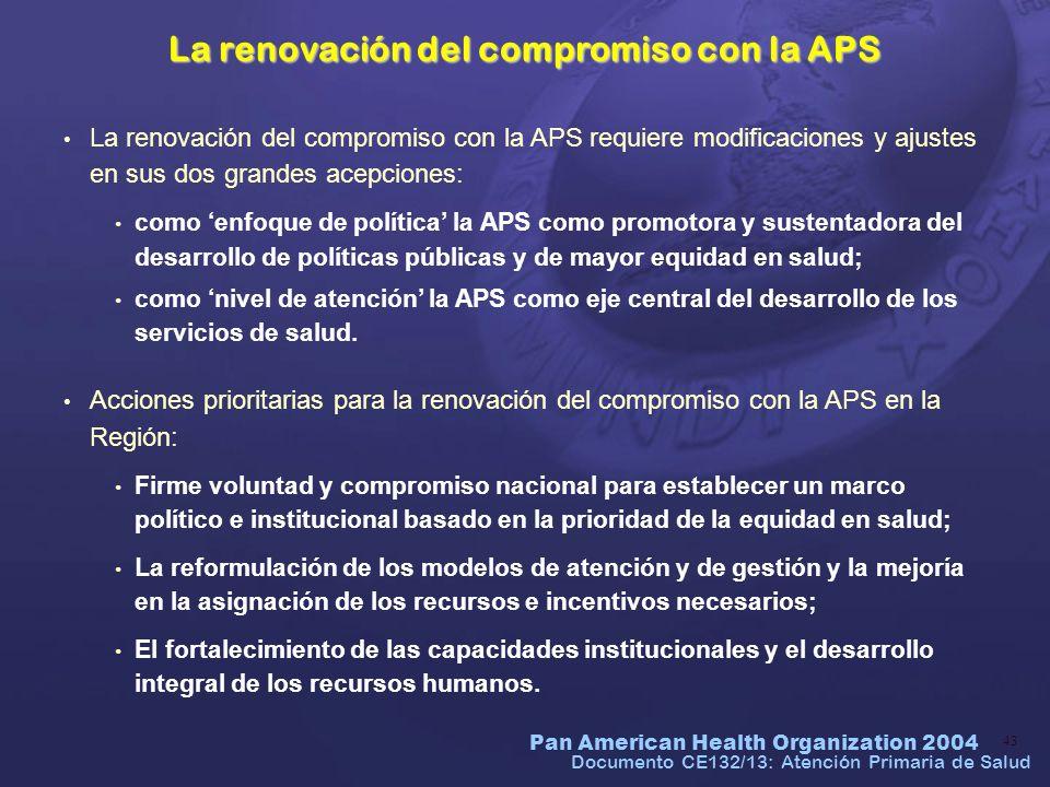 La renovación del compromiso con la APS