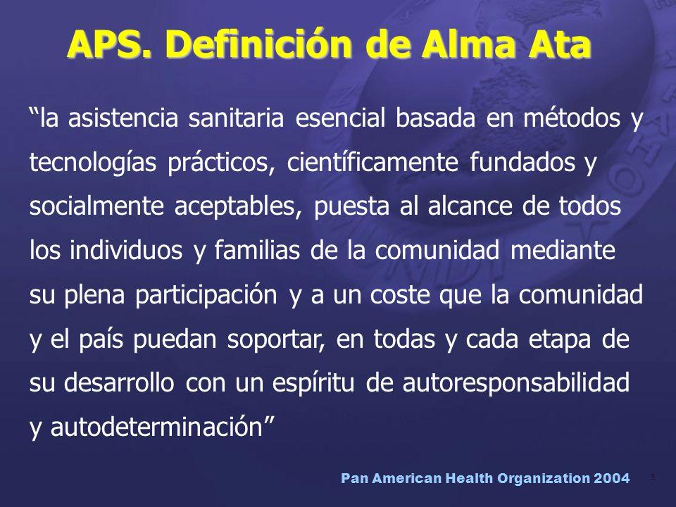 APS. Definición de Alma Ata