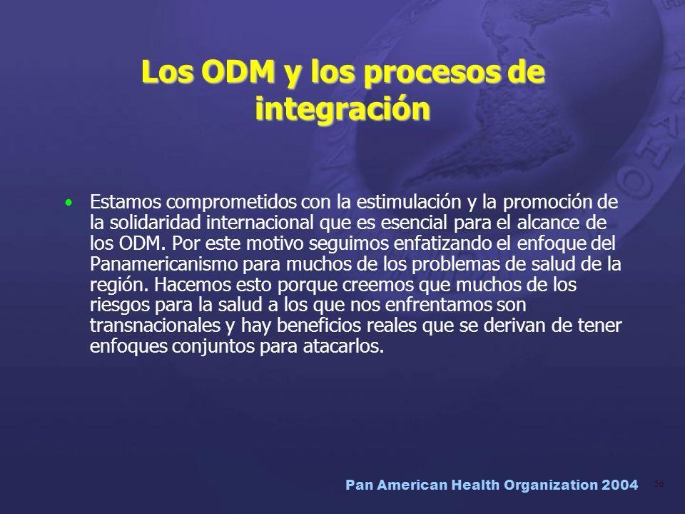 Los ODM y los procesos de integración