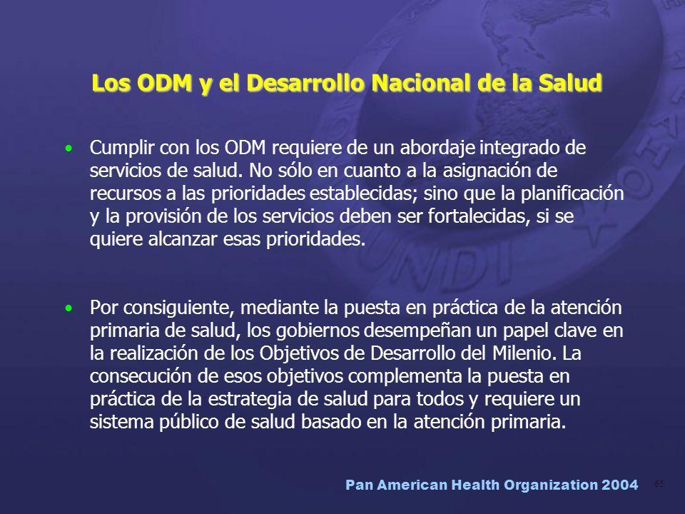 Los ODM y el Desarrollo Nacional de la Salud