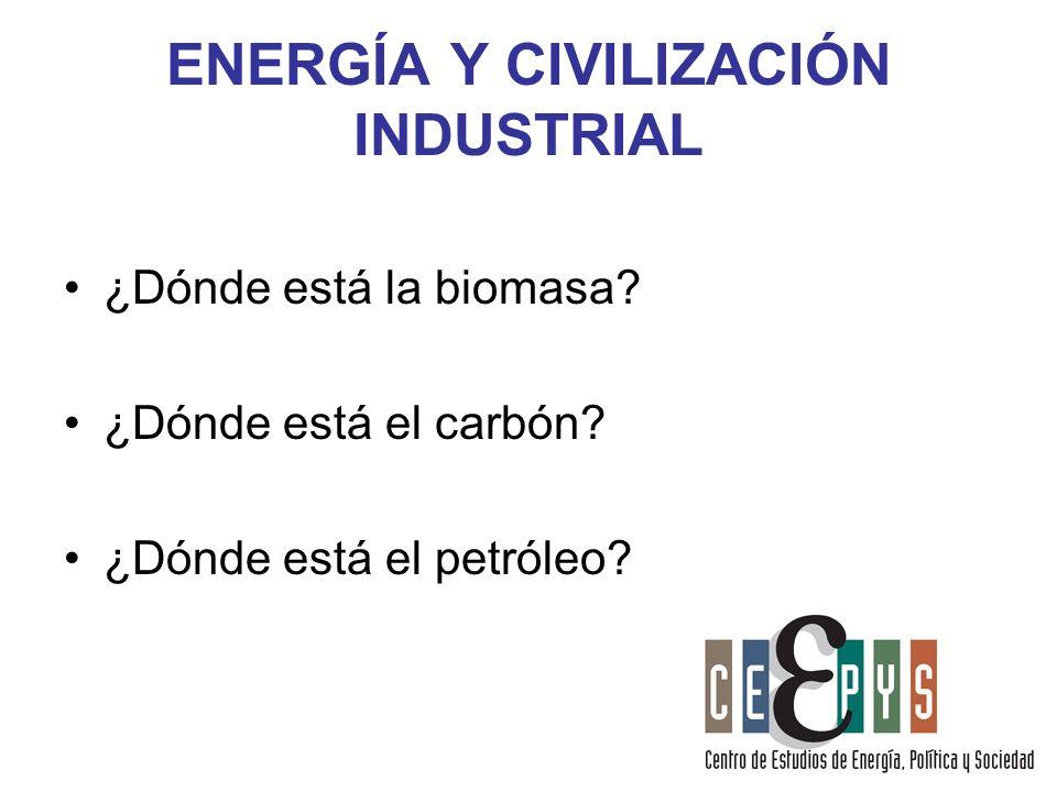 ENERGÍA Y CIVILIZACIÓN INDUSTRIAL
