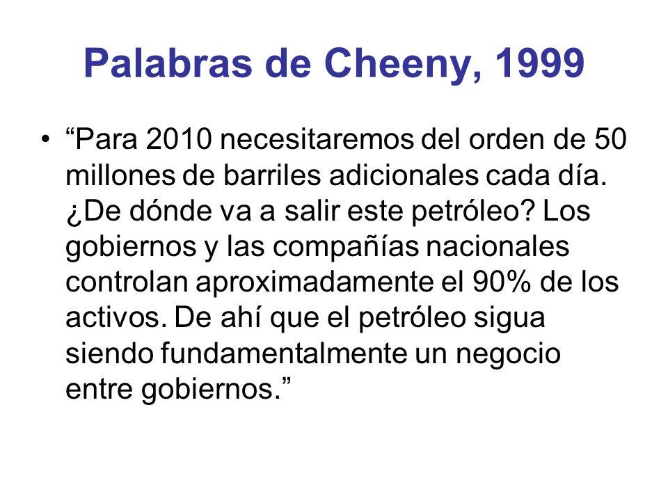Palabras de Cheeny, 1999