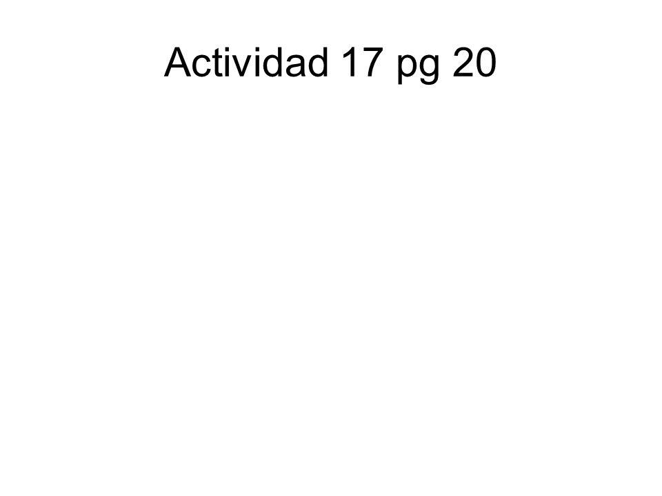 Actividad 17 pg 20
