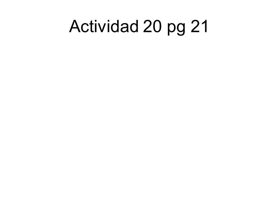 Actividad 20 pg 21