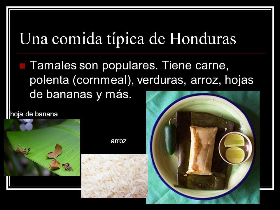 Una comida típica de Honduras