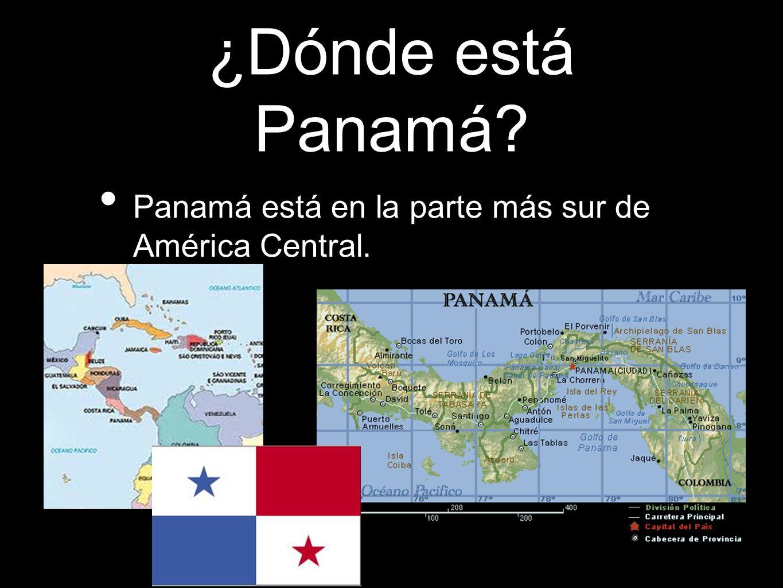 ¿Dónde está Panamá Panamá está en la parte más sur de América Central.