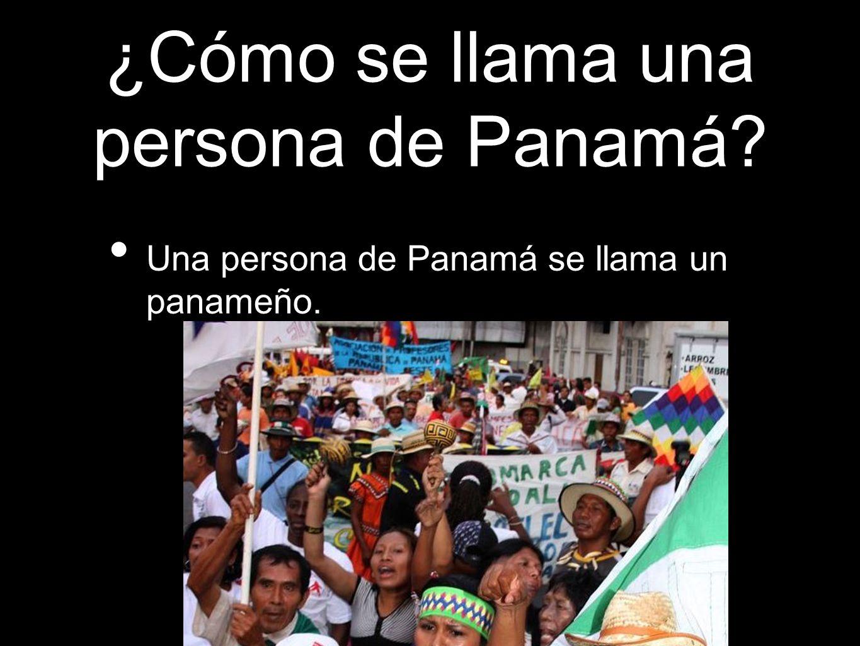 ¿Cómo se llama una persona de Panamá