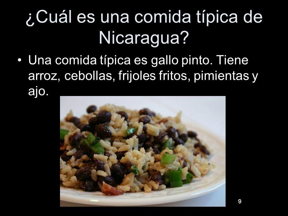 ¿Cuál es una comida típica de Nicaragua