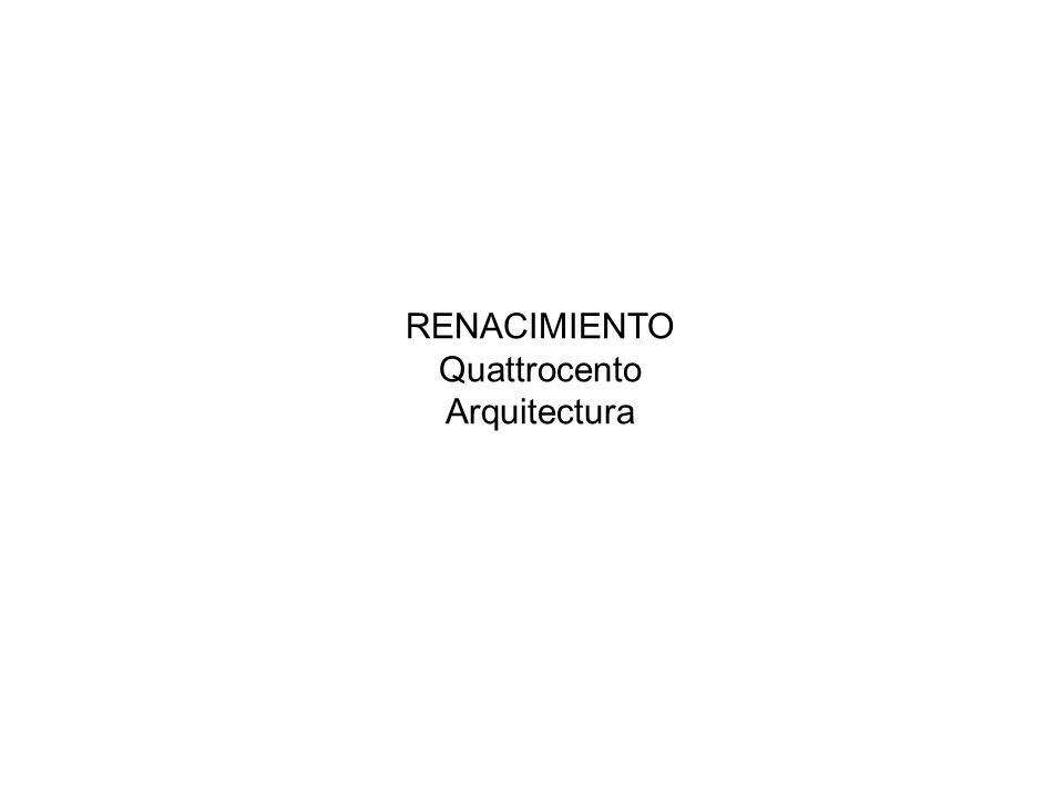 RENACIMIENTO Quattrocento Arquitectura