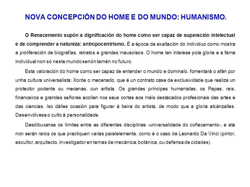 NOVA CONCEPCIÓN DO HOME E DO MUNDO: HUMANISMO.