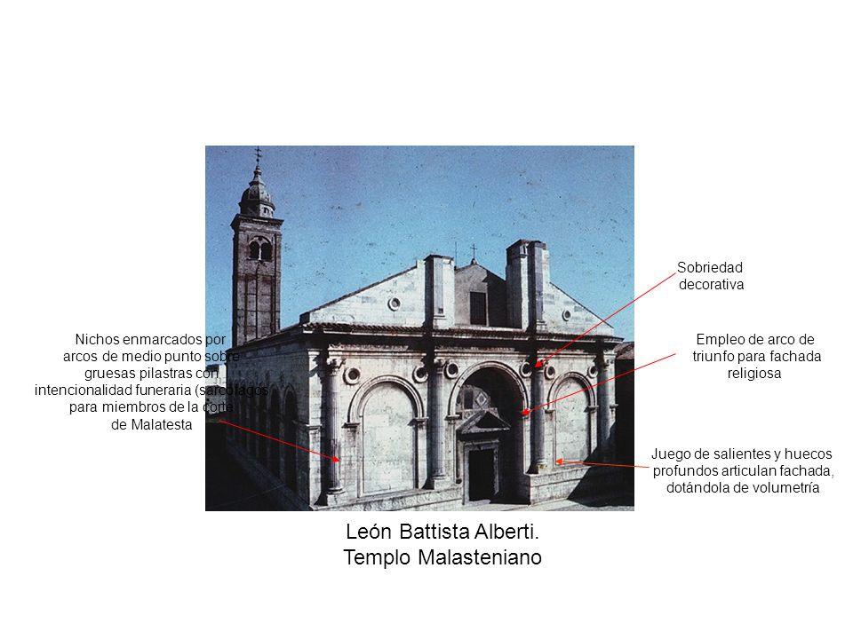 León Battista Alberti. Templo Malasteniano Sobriedad decorativa