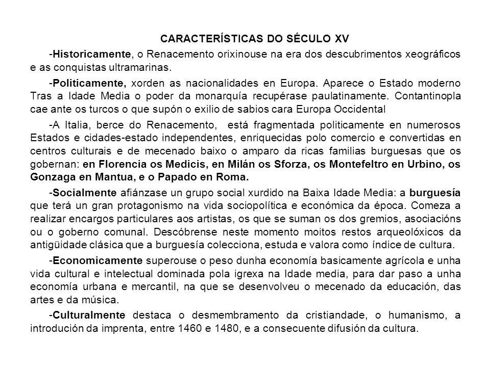 CARACTERÍSTICAS DO SÉCULO XV