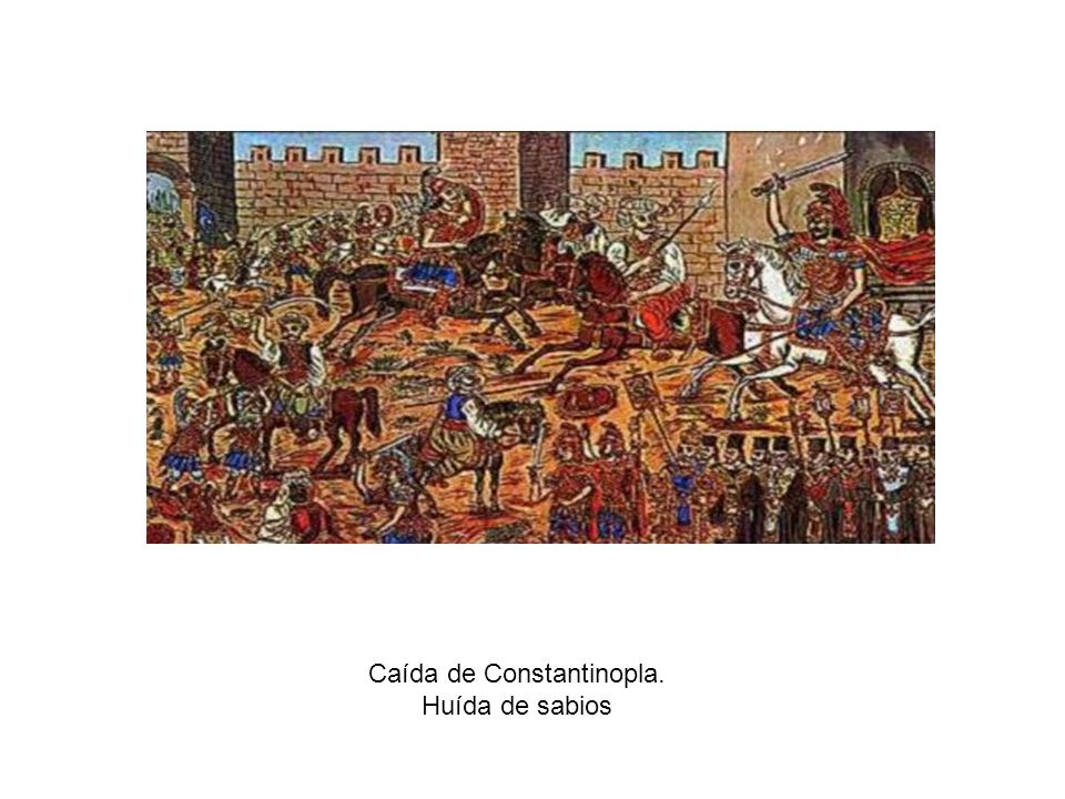 Caída de Constantinopla.