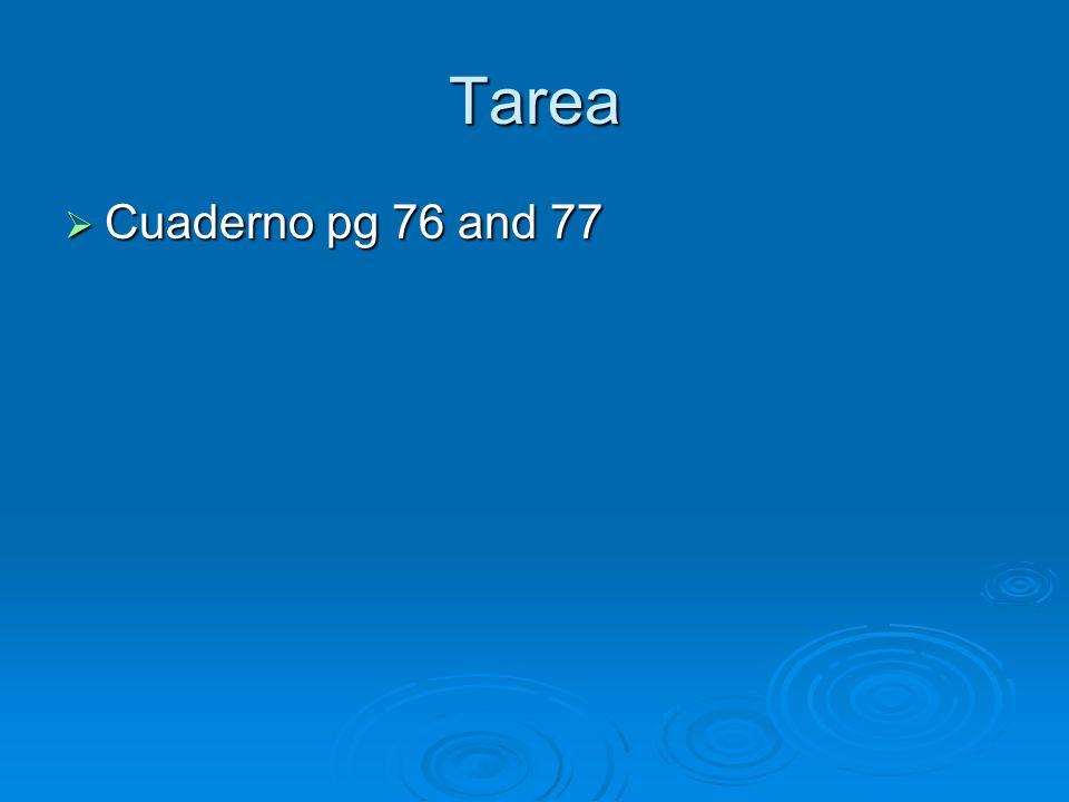 Tarea Cuaderno pg 76 and 77