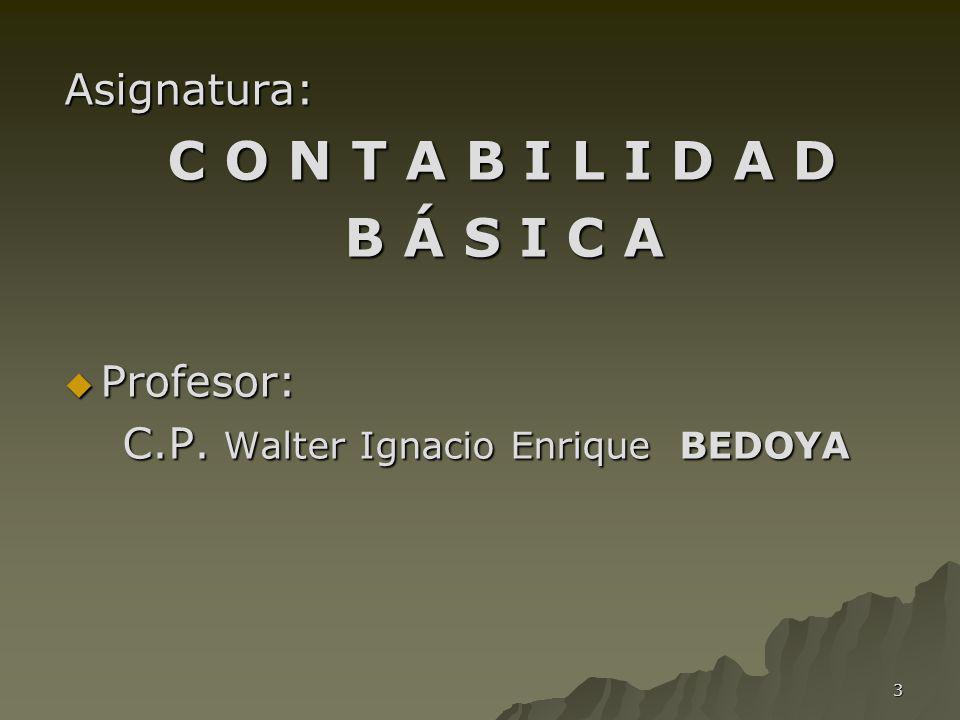 C.P. Walter Ignacio Enrique BEDOYA