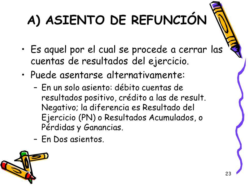 A) ASIENTO DE REFUNCIÓN