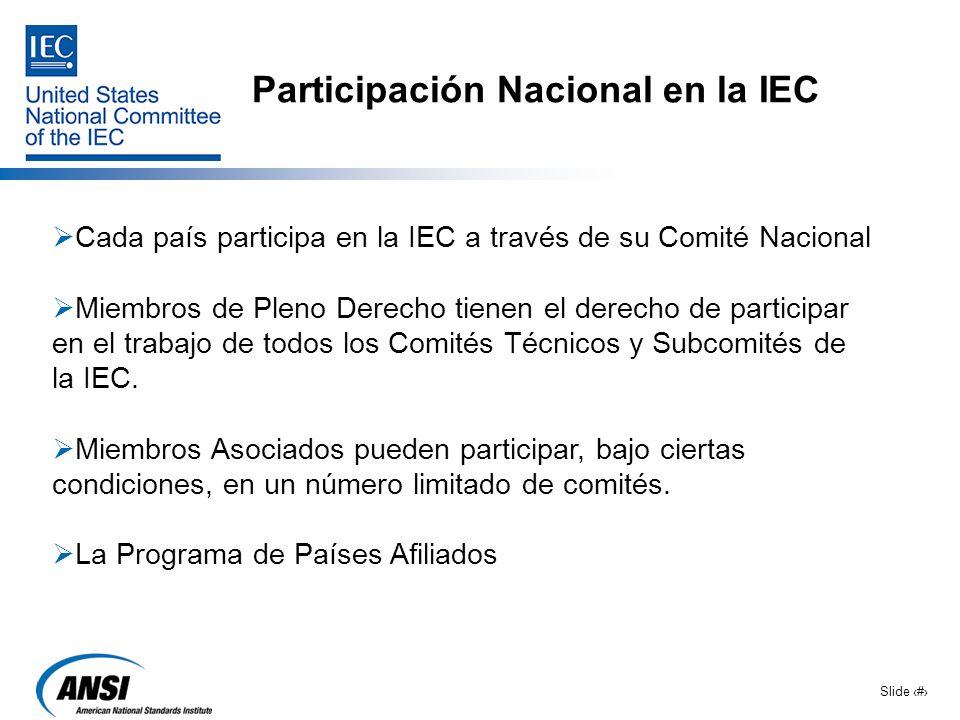 Participación Nacional en la IEC